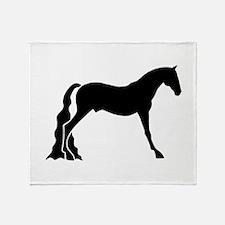 saddle horse Throw Blanket