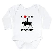 I Heart My Horse w/ Cowgirl Long Sleeve Infant Bod