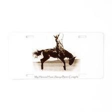 Cute Broncs Aluminum License Plate
