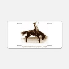Cute Bucking horse Aluminum License Plate