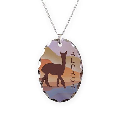 Mountain Mirage Alpaca Necklace Oval Charm