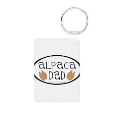 Alpaca Dad Oval Keychains