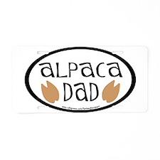 Alpaca Dad Oval Aluminum License Plate