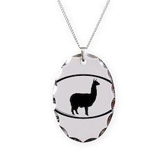alpaca oval Necklace
