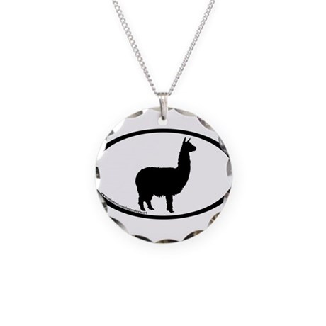 alpaca oval Necklace Circle Charm