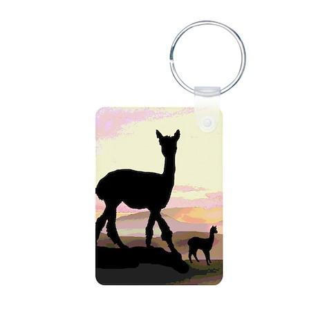 Sunset Hills Alpacas Aluminum Photo Keychain