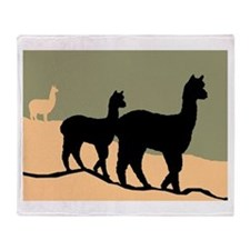 Alpacas Hillside Throw Blanket