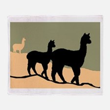 Alpacas Hillside Throw Blanket