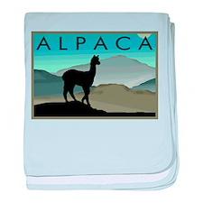 Blue Hills Alpaca baby blanket