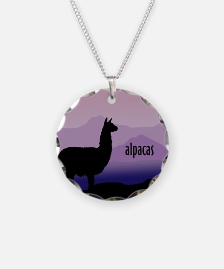 alpaca purple mountains Necklace