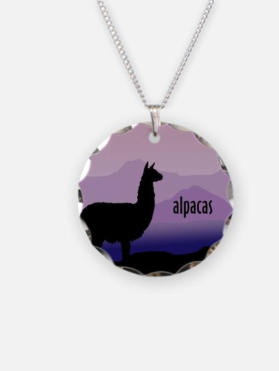 alpaca purple mountains Necklace