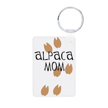 Alpaca Mom Aluminum Photo Keychain