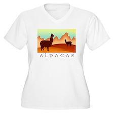 alpacas / mountains T-Shirt