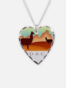 alpacas / mountains Necklace