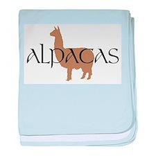 Cute Alpaca baby blanket