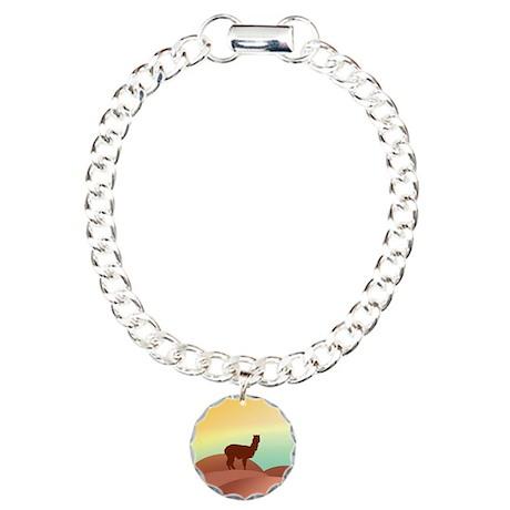 alpaca landscape Charm Bracelet, One Charm