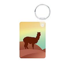 alpaca landscape Keychains