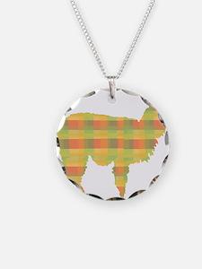 Plaid Alpaca Necklace