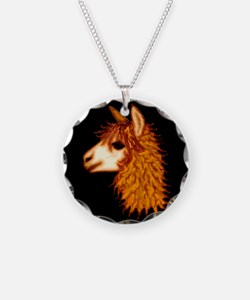Alpaca (on black) Necklace