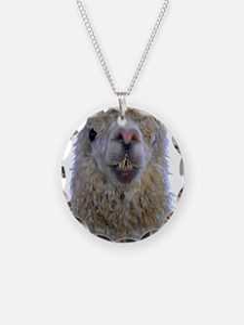 Alpaca Closeup Necklace