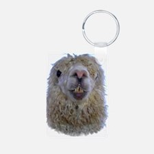 Alpaca Closeup Keychains