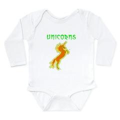 unicorns (or. & gr.) Long Sleeve Infant Bodysuit