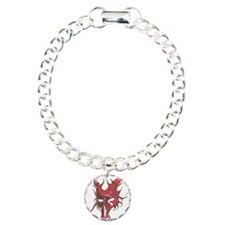 Red Horned Dragon Mask Bracelet