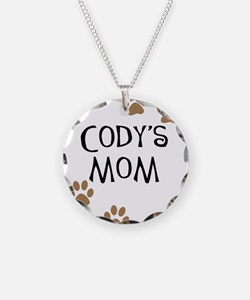 Cody's Mom Dog Names Necklace Circle Charm