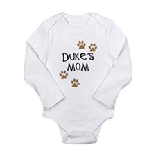 Duke's Mom Dog Names Long Sleeve Infant Bodysuit