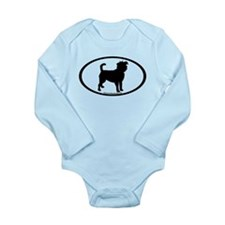 Affenpinscher Oval Long Sleeve Infant Bodysuit