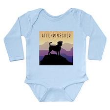 Purple Mountains Affen Long Sleeve Infant Bodysuit