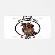 affenpinscher mom Aluminum License Plate