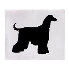 Afghan Hound Dog Throw Blanket