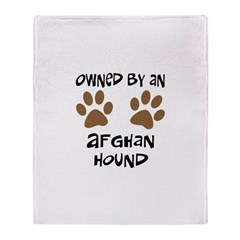 Owned By An Afghan Hound Throw Blanket