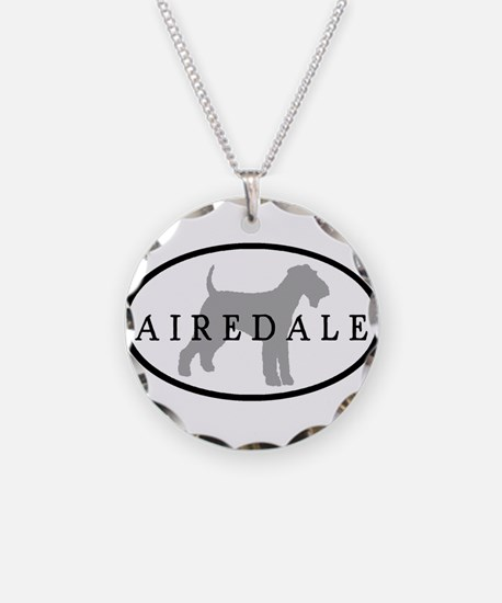 Airedale Terrier Oval #3 Necklace