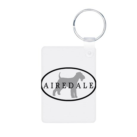 Airedale Terrier Oval #3 Aluminum Photo Keychain