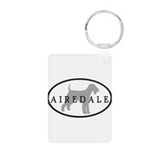 Airedale Terrier Oval #3 Keychains