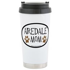 Airedale Mom Oval Travel Mug