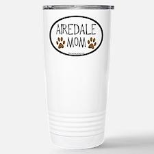 Airedale Mom Oval Travel Mug