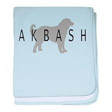 Akbash baby blanket