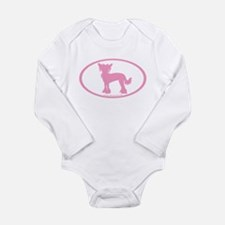 Cute Chinese crested Long Sleeve Infant Bodysuit