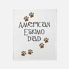 American Eskimo Dad Throw Blanket
