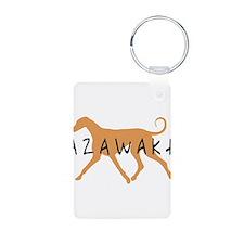 Azawakh Dog Aluminum Photo Keychain