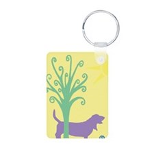 Basset Hound Tree & Ball Keychains