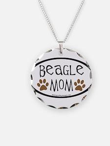 Beagle Mom Oval Necklace
