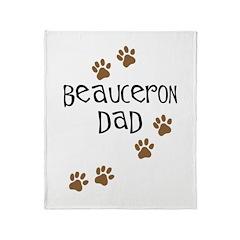 Beauceron Dad Throw Blanket