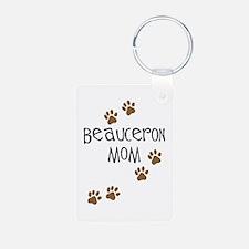 Beauceron Mom Aluminum Photo Keychain