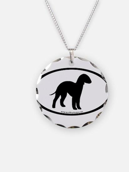 Bedlington Terrier Oval Necklace
