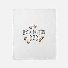 Bedlington Dad Throw Blanket