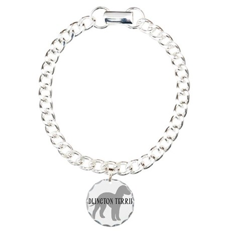 Bedlington Terrier Charm Bracelet, One Charm